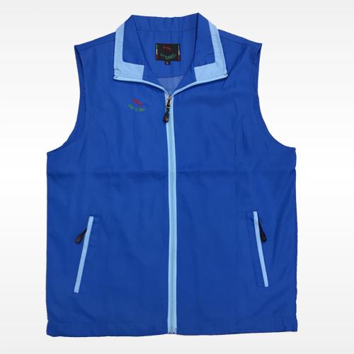 外套背心(藍底水藍領)