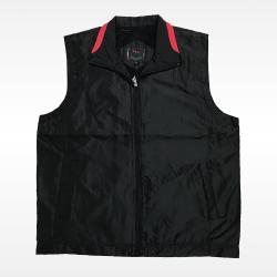 外套背心(黑底紅領)