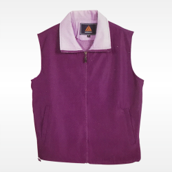 外套背心(紫底粉紅領)